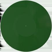 Виниловая пластинка 10 дюймов зеленая