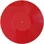 пластинка 10 дюймов красная