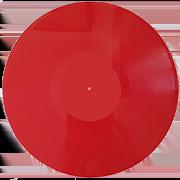 пластинка 12 дюймов красная