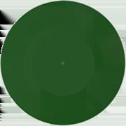 пластинка 7 дюймов зеленая