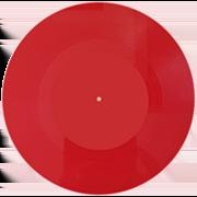пластинка 7 дюймов красная