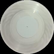 Виниловая пластинка 10 дюймов прозрачная